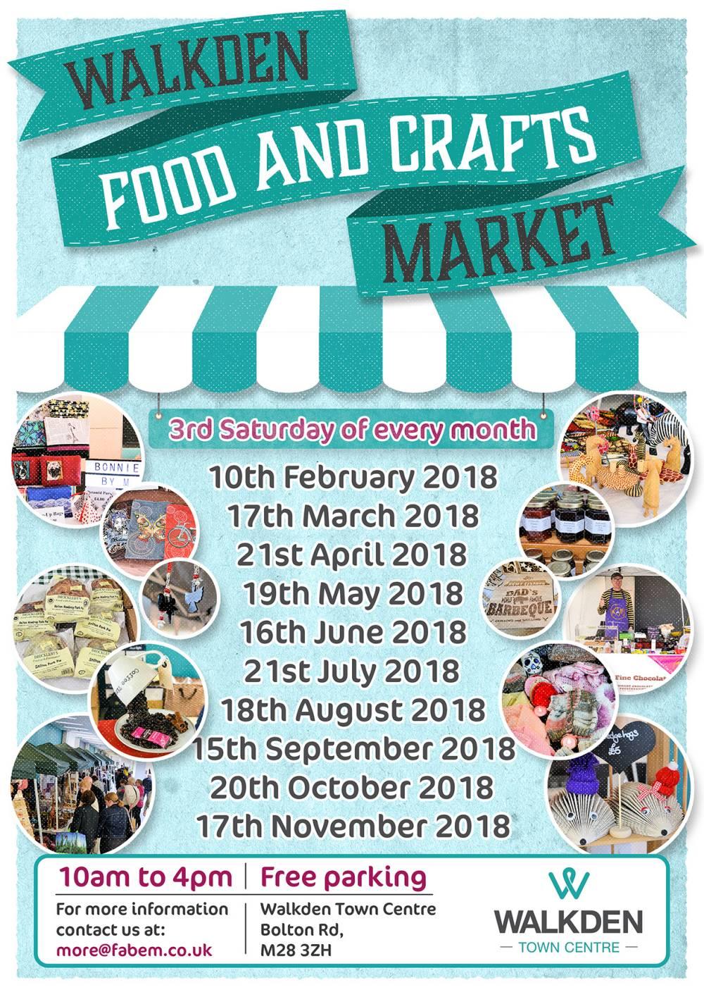Walkden Food and Crafts Market Dates 2018